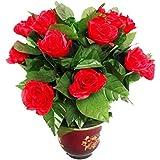 【enjoy】結婚式を祝う大型舞台 花を揺さぶる道具 鉢植えの花は咲く 不思議な花 10本花つき (バッテリー付かない)手品道具