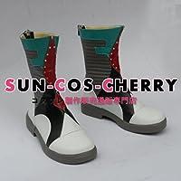 【サイズ選択可】コスプレ靴 ブーツ Z1-057 VOCALOID ボーカロイド 恋愛勇者 初音ミク Miku 女性24.5CM