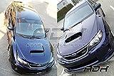 スバル インプレッサ WRX STI GVB/GVF型 11-14専用 H-type フロントリップスポイラー 艶消黒塗装 PU