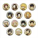 鬼滅の刃 とじコレ Vol.3 クッキー 缶バッジ BOX商品 1BOX=14個入、全14種類