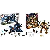 レゴ(LEGO) スーパー・ヒーローズ  アベンジャーズ・アルティメット・クインジェット 76126 ブロック おもちゃ 男の子 &  スーパー・ヒーローズ  モルテンマンの戦い 76128 マーベル ブロック おもちゃ 男の子【セット買い】