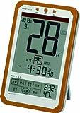 ADESSO(アデッソ) 電波目覚まし時計 日めくりカレンダー 六曜表示 快適度表示機能付き ブラウン C-8414
