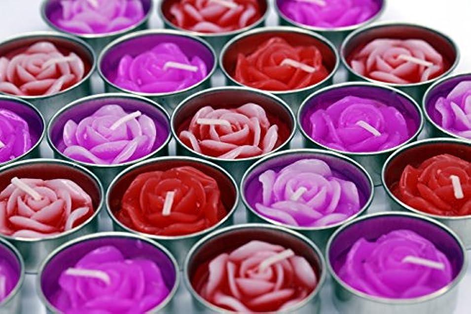 試み見分ける画家アロマキャンドル ローズ 4センチ 10個セット ピンク