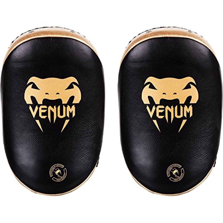 VENUM[ヴェヌム] キックパッド レザー(ペア) (黒/ゴールド) / Kick Pad Leather - Black/Gold