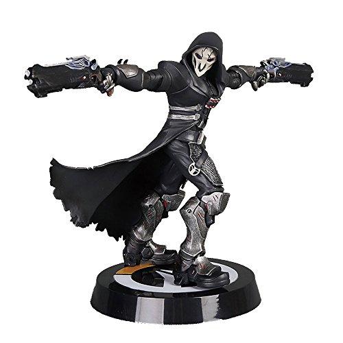 オーバーウォッチ フィギュア リーパー デス・ブロッサム OverWatch Reaper Reyes Hellfire Wraith Death Blossom Black Figure Model 26cm