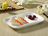 ランチプレート(二つ仕切り角型)/おうちカフェ/業務用食器/仕切り皿/白食器