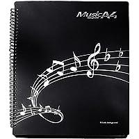 JP-Jpwt 楽譜ファイル 書込みOK リング式 バンドファイル 30ポケット A4サイズ 60ページ (ブラック)
