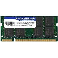 シリコンパワー ノートPC用メモリ 200Pin SO-DIMM DDR2-667 PC2-5300 2GB 永久保証 SP002GBSRU667S02