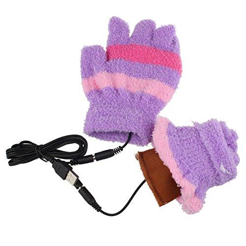 [해외]귀여운 방한 장갑 Timsa 여성 남성 장갑 40 ~ 50 ° C 5V 50HZ USB 난방 장갑 손가락 따뜻한인지 장갑 커플 최고의 남녀 겸용 3D 니트 스마트 폰 대응 부활절   생일   크리스마스   새해 선물/Cute cold weather gloves Timsa Women`s men`s gloves...