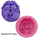 Boy Girl Lovers Silicone Fondant Cookie Cake Decorating Baking Mold Tools