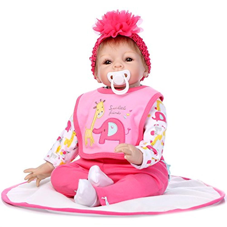 NPK COLLECTION 55CM リボーンドール 抱き人形 きせかえ人形ドール 可愛い赤ちゃん 誕生日プレゼント プレゼント 微笑む赤ちゃん
