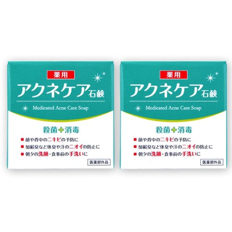 アーサーコナンドイル鼓舞する五月アクネケア 薬用石けん 80g×2個セット