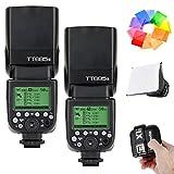 2 Pcs Godox TT685S HSS 1/8000S GN60 TTL スピードライト ストロボ フラッシュ 0.1-2.sリサイクルタイム 230フルパワー点滅 22ステップ電力出力(1/1~1-128) X1T-S 2.4G TTLワイヤレスフラッシュトリガー フラッシュディフューザーソフトボックス  フラッシュカラーフィルター MIホットシュー付きソニーデジタル一眼レフカメラSony DSLRに対応