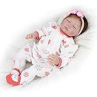 ハンドメイドリアルなシリコンAlive Girl人形Reborn Baby Sleeping 22インチKids House Playおもちゃコレクション