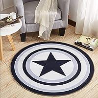 Carpet ホームアンチスリップカーペットラウンドカーペットマットラタンの家具のコンピュータチェアパッドベッドルームのベッドサイドカードパッド100cm(39インチ) A+ (色 : C)