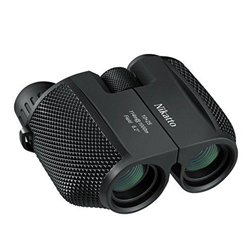 Nikatto 双眼鏡 コンサート用オペラグラス 10×25 ストラップ付 ブラック