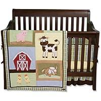 Trend Lab 4 Piece Crib Bedding Set, Baby Barnyard by Trend Lab