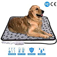 Adjustable Pet Heating Pad For Dog Cat Puppy Power off Protection Mat Electric Warming Bed Pads For Dogs And Cats Indoor-in Houses, Kennels & Pens from Home & Garden on, Gray,M