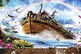 1000ピース ジグソーパズル めざせ! パズルの達人 楠田論史 ノアの方舟(50x75cm)