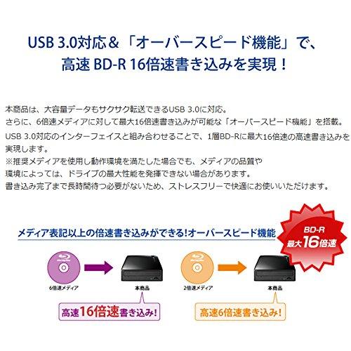 ブルーレイドライブ 外付型/USB 3.0/BDXL/M-DISC/16倍速高速書き込み BRD-UT16WX 4枚目のサムネイル