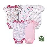 (マザーネスト) Mother Nest カバーオール 新生児から ロンパース 赤ちゃん 綿100 半袖 Baby ボディースーツ 5枚セット ベビー服 Bodysuit BBT055-3MS