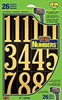 HY-KO MM-5N 3インチブラック&ゴールド自己スティック番号