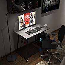 Need Gaming Desk with Cup Holder & Headphone Hook for Home or Office Gaming PC Desk Table AC17LB(9060)