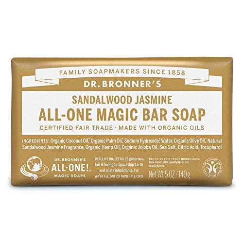 ドクターブロナー マジックソープバー magic soap 石鹸 サンダルウッド&ジャスミン 140g ネイチャーズウェイ