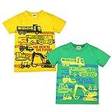 (グリーン/120cm)子供服 男の子 Tシャツ KIDBOW キッドバウ 半袖 働く車プリント 男児 キッズ