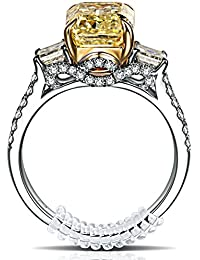 GWHOLE リングストッパー 指輪サイズ調節用 PVCスプリングワイヤ銀磨きクロス布付き【1年保証】