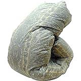国産 羽毛布団 シングル 6003柄ブルー マザーダウン1.2kg 7年保証 ダウンパワー400dp以上/かさ高165mm以上 ロイヤルゴールドラベル 製品保証書付