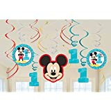 Disney Mickey Fun to Be One Hanging Swirl Decorations Value Pack of 12