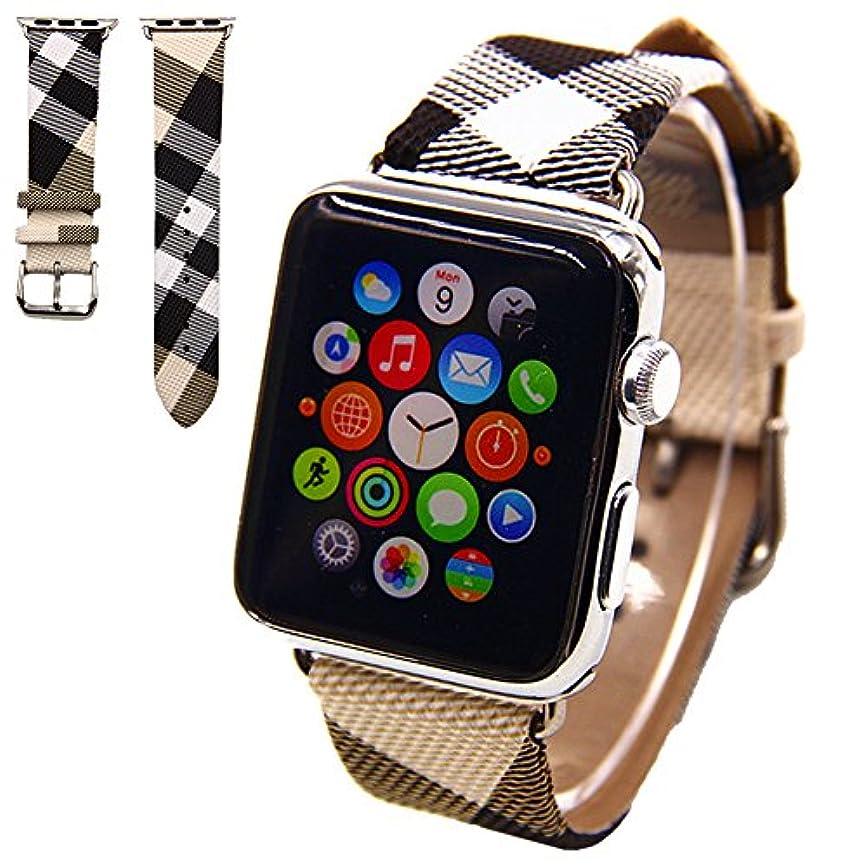 平日滑り台スラムVicstar Apple watch Series 3 42mm ベルト 交換バンド Apple watch 3 ベルト 高級レザー 本革バンド 金属クラスプ付き 上品 柔らか ビジネス風 脱着簡単