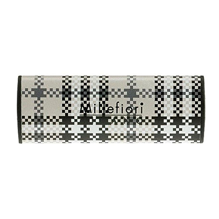数値パスポート飾り羽Millefiori カーエアフレッシュナー CHECK シルバースピリット CDIF-F-003