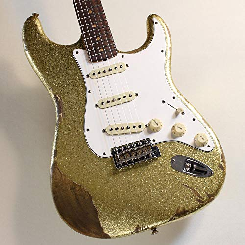 CUSTOM SHOP TBC 1960 Stratocaster Heavy Relic/Gold Sparkle, Aged Tint Topcoat #R94853