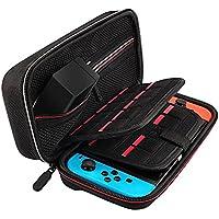 [Nintendo Switch対応]最新改良版のNintendo Switch ケース, 任天堂スイッチ用のキャリングケース,外出や旅行用収納バッグ,ナイロン素材 防塵、防汚、耐衝撃,ACアダプター/ケーブル/イヤホンなど収納可 (黒)