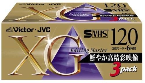VICTOR ビデオテープKシリーズ 3ST-120XGK スーパーVHSビデオテープ
