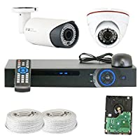 GW Security Inc VD2CHC8 4 Channel HDCVI DVR Security System with 2 x 1/2.9 HDCVI IR CCTV Security Camera [並行輸入品]