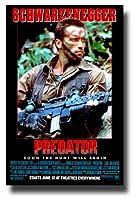 Predatorアーノルド・シュワルツェネッガームービーPromoポスター11x 17インチ1980s Soon the Hunt Will Begin