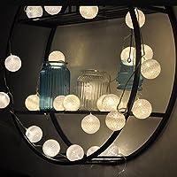 LEDイルミネーションライト ストリングライト バッテリーパワー ボールライト ホームパーティーの装飾 ホワイト