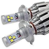 LEDヘッドライト 数量限定! 4世代 4000lmオールインワン取付かんたん! シルバー色 ソケットH4 Hi/Lo