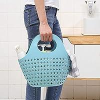 Wensltd クリアランス! ポータブルストレージ バスルーム キッチン 空洞 プラスチックカラー ファッショナブル ポータブルバスケット。