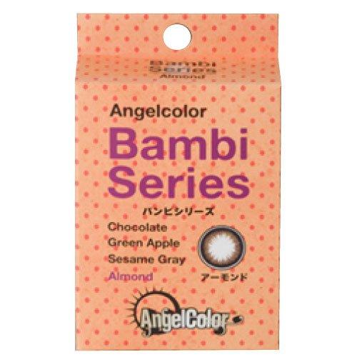 エンジェルカラー バンビシリーズ 度なし 1ヶ月タイプ 1箱2枚入 14.2mm 【アーモンド】