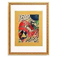 ワシリー・カンディンスキー Wassily Kandinsky (Vassily Kandinsky) 「Entwurf fur den Umschlag des Almanachs 'Der Blaue Reiter', 1911.」 額装アート作品