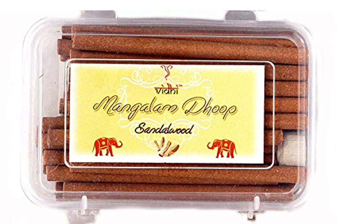 ドロー節約する悪いVidhi Mangalam Dhoop Sticks Pack/Box (Sandalwood) - Pack of 40 Dhoop Sticks (Natural Dhoop Batti) (Burn TIME:...