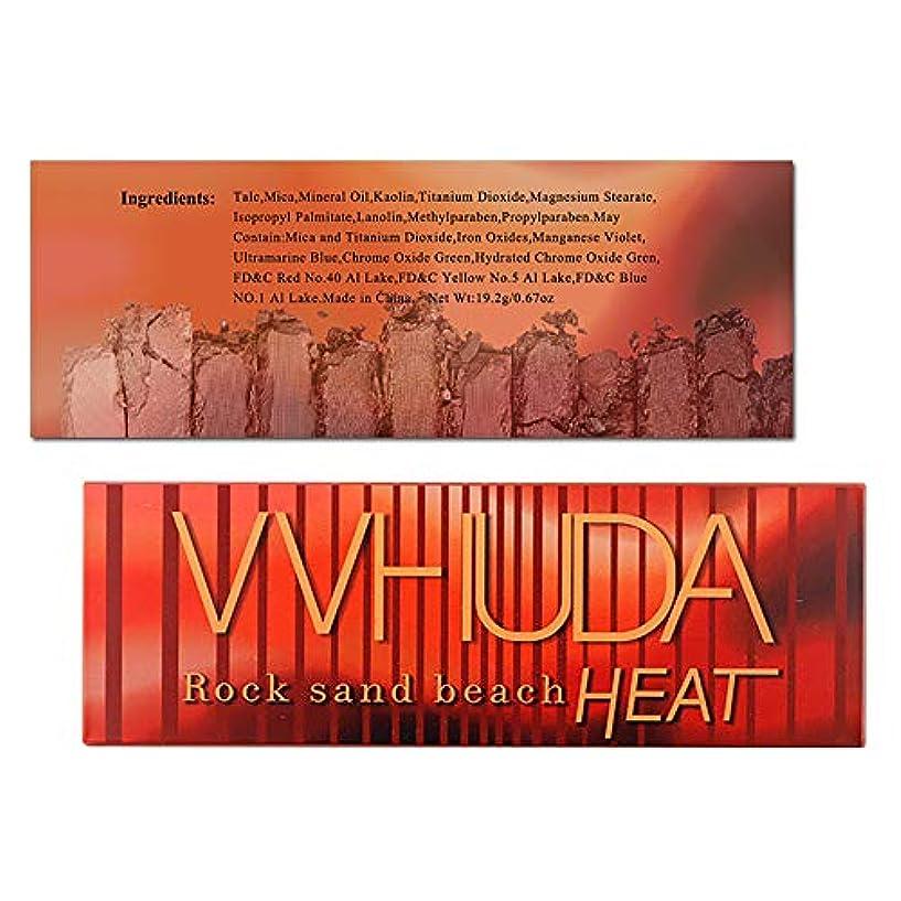 とげのある先行するヒゲ12色炎グリッターアイシャドウパウダーパレットマットアイシャドウ化粧品メイク