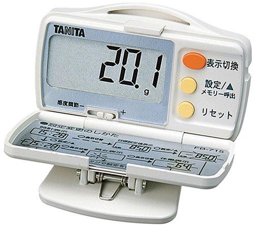 タニタ(TANITA) 脂肪燃焼量付き歩数計 ホワイト FB-715-WH