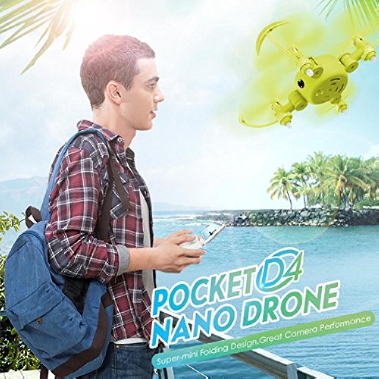 ヘリコプターカメラ、Hongxin Mini Wifi 720pカメラドローンRCクアッドコプター2.4 GHz 4 CH 6-axisジャイロ3d UFO FPV RC (イエロー)