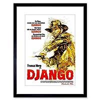 Ad Film Movie Django Photo Framed Wall Art Print