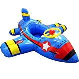 FlyCreat浮き輪 ベビーボート 幼児用 足入れ式 座付き ベビー用浮き輪 飛行機の形 安全厚いエコPVC 子供用 簡単に空気入れ 便利に携帯 赤ちゃんうきわ 泳ぎトレーナー 可愛い 子供 1歳 2歳 3歳 4歳 5歳 ベビー キッズ用 足入れ浮き輪 子供用浮き輪 うきわ 男の子 女の子 こども 足入れ水泳圏 浮輪おもちゃ 海フロート 強い浮力フロート 外遊び オモチャ 海 プール パーティ 海水浴 水遊びに大活躍 夏グッズ アウトドア 誕生日 プレゼント ギフト